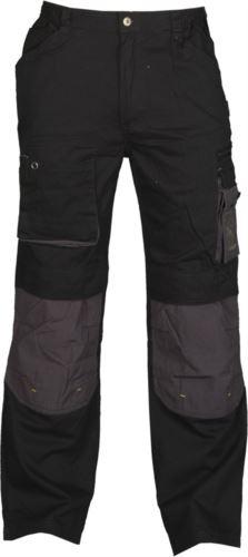 Pantaloni da lavoro multitasche nero, pantaloni da lavoro per fabbro