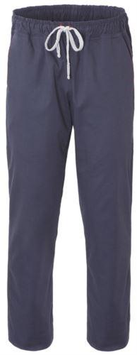 Pantaloni da cuoco, chiusura con laccetti in tessuto, due tasche posteriori, colore grigio