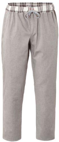 Pantaloni da cuoco, chiusura con laccetti in tessuto, due tasche posteriori, colore caffè