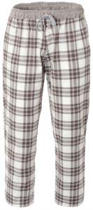 Pantaloni da cuoco, chiusura con laccetti in tessuto, due tasche posteriori, colore check marrone