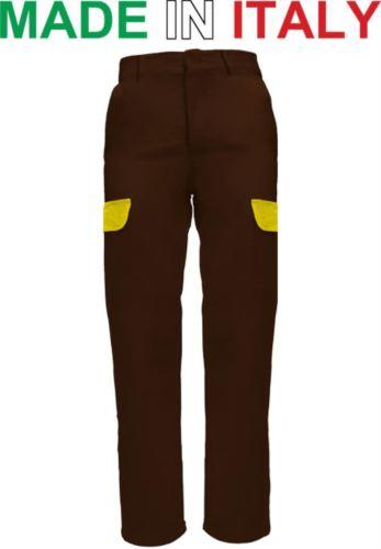 Pantalone multitasche da lavoro marrone, abbigliamento da lavoro di qualità, pantalone per muratore