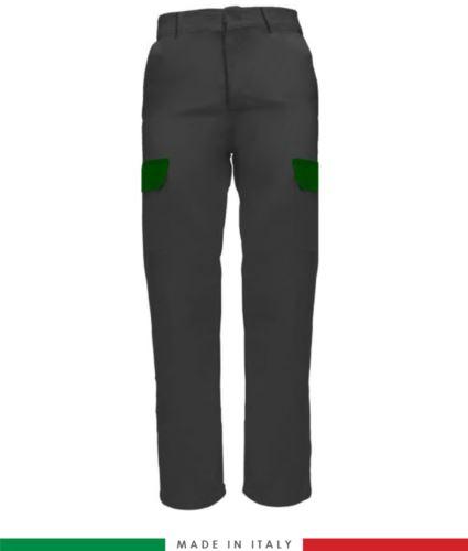 Pantalone multitasche da lavoro grigio, pantalone da lavoro manovale, pantalone da lavoro edilizia