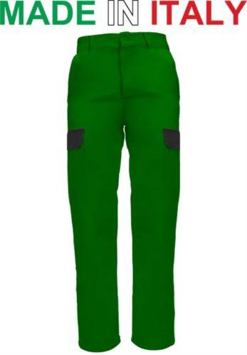 Pantalone da lavoro bicolore verde, pantaloni uomo multitasche, Abbigliamento da lavoro Roma