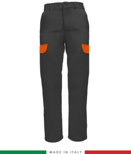 Pantalone multitasche da lavoro grigio, pantalone per muratore, abbigliamento da lavoro edile