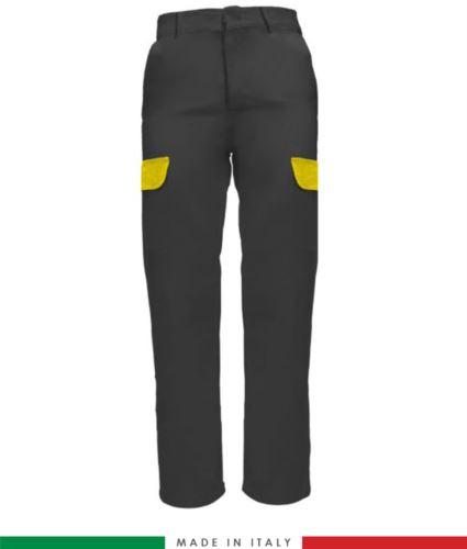 Pantalone multitasche da lavoro grigio, pantalone da elettricista, abbigliamento da lavoro tecnico