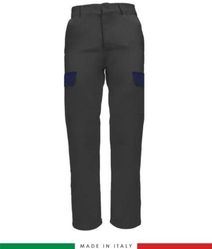 Pantalone multitasche da lavoro grigio, pantalone da metalmeccanico, pantalone estivo multitasche