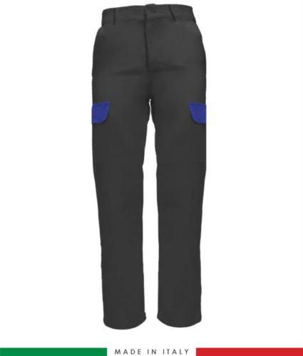 Pantalone multitasche da lavoro grigio, abbigliamento da lavoro fabbrica, pantalone da metalmeccanica