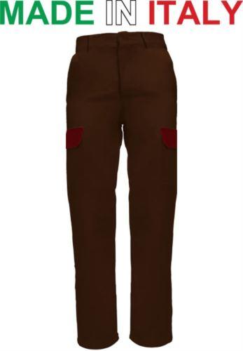 Pantalone da lavoro marrone, pantalone per elettricista, abbigliamento per elettricisti