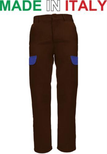 Pantalone da lavoro marrone, pantalone da idraulico, Pantaloni con elastico