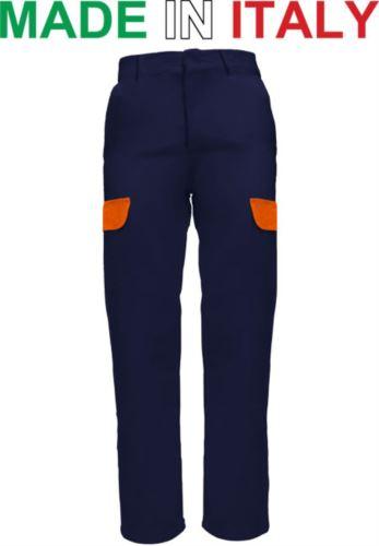 Pantalone multitasche da lavoro blu, pantalone da carpentiere, abbigliamento per saldare
