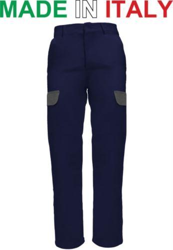 Pantalone multitasche da lavoro blu, pantalone per elettricista, Abiti da lavoro con ricamo