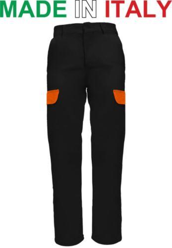 Pantaloni multitasche da lavoro neri, pantaloni da carpentiere, produzione abbigliamento da lavoro Piemonte