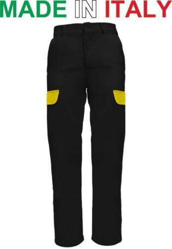 Pantaloni multitasche da lavoro neri,  pantaloni da lavoro con tasconi, pantaloni per officine meccaniche