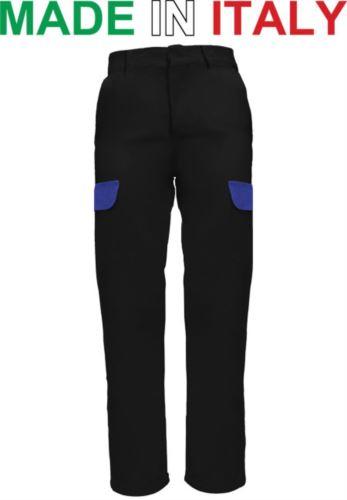 Pantaloni multitasche da lavoro neri, pantaloni da metalmeccanico, abbigliamento da officina