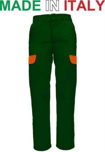 Pantaloni da lavoro bicolore verde, pantaloni da lavoro con tasconi, Abbigliamento da lavoro Lugano