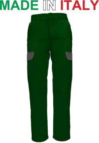 Pantaloni da lavoro bicolore verde, pantaloni da lavoro con tasconi, pantaloni da lavoro forestale