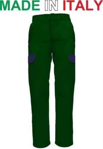 Pantaloni da lavoro bicolore verde, abbigliamento da lavoro giardiniere, pantaloni per giardiniere