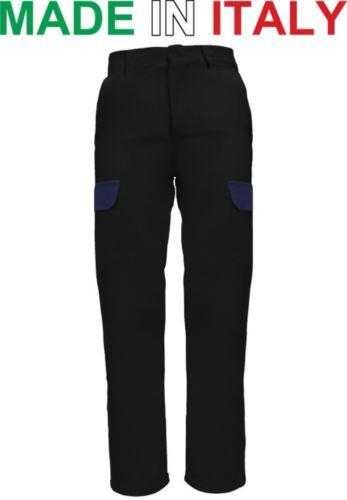 Pantaloni multitasche da lavoro neri, pantaloni di sicurezza, abbigliamento industria metalmeccanica