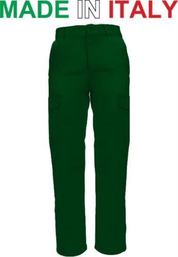 Pantaloni da lavoro bicolore verde, pantaloni da lavoro con tasche laterali, Abbigliamento da lavoro Lombardia