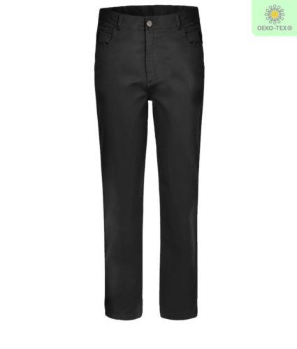 Pantalone da lavoro elasticizzato multistagione di colore nero
