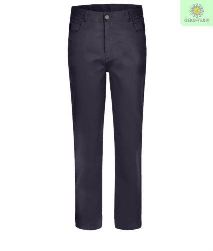 Pantalone da lavoro elasticizzato multistagione di colore blu navy