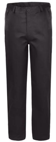 Pantaloni elasticizzati da lavoro vestibilità classica, multistagione, colore smoke