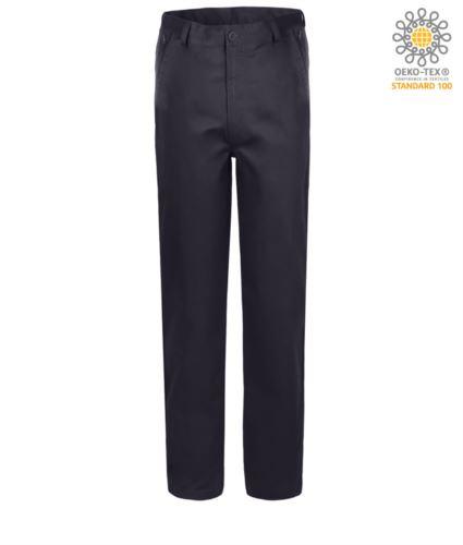Pantaloni elasticizzati da lavoro vestibilità classica, multistagione, colore blu navy