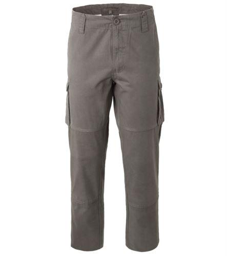 Pantalone da lavoro multitasche in cotone di colore grigio