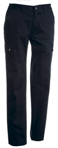 Pantalone donna multitasche e multistagione taglio classico. Colore Blu