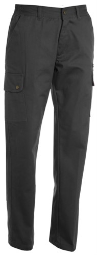 Pantalone da lavoro donna multitasche grigio,