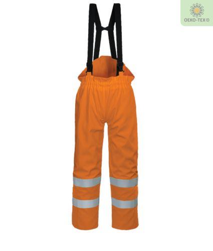 Pantalone foderato antistatico, ignifugo ad alta visibilità