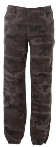 Pantaloni multitasche da lavoro, con tessuto elasticizzato, colore grigio mimetico