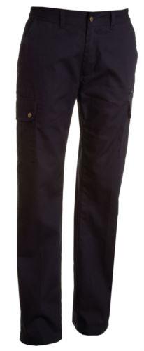 Pantaloni da lavoro multitasche leggeri donna blu, abbigliamento da lavoro femminile
