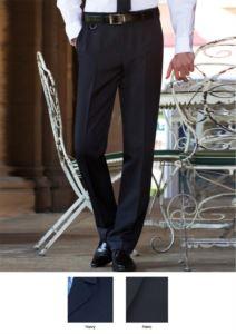 Pantalone elegante uomo modello tailored fit, due tasche a filetto, 100% poliestere. Ottieni un preventivo gratuito.