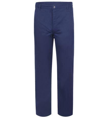 Pantaloni antiacido e antistatico, multitasche, colore blu, certificato EN 13034, EN 1149-5