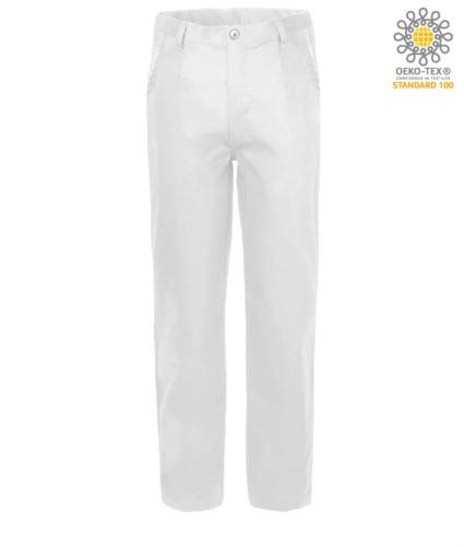 Pantaloni da lavoro 100% Cotone Massaua colore bianco