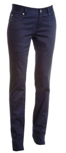 Pantaloni da lavoro donna elasticizzato, multistagione di colore blu