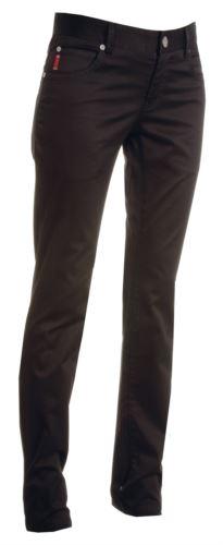 Pantaloni da lavoro donna elasticizzato, multistagione di colore nero