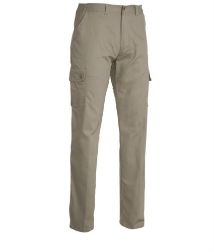 Pantaloni da lavoro multitasche leggeri kaki, abbigliamento da lavoro edilizia