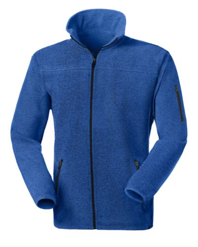 Pile zip lunga in maglia knitted fleece