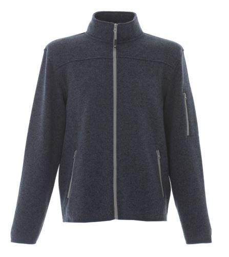 Pile zip lunga in maglia knitted fleece