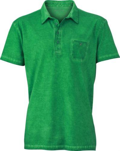 Polo manica corta con taschino, taglio attillato, colore verde chiaro