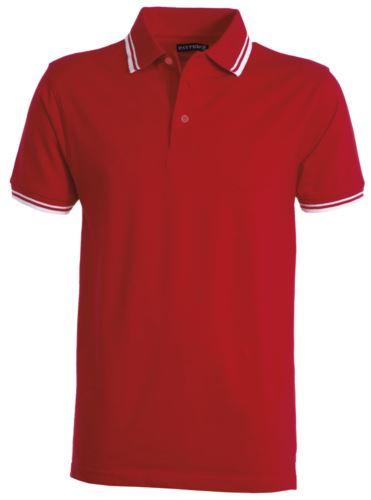 Polo manica corta in jersey bicolore