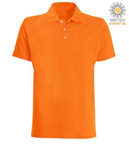 Polo manica corta in jersey colore arancione