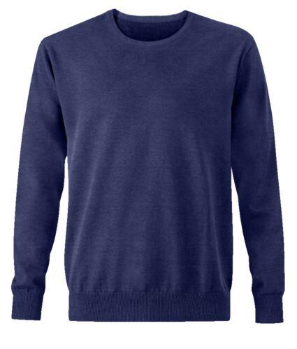 Pullover elegante uomo blue navy