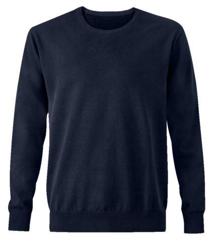 Pullover elegante blu