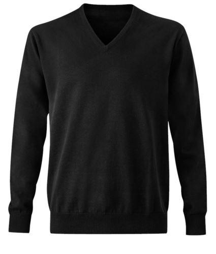 Pullover nero uomo