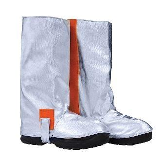 Stivali da avvicinamento, chiusura con velcro nella parte interna, bottone e velcro per la suola, certificato EN 11612:2009