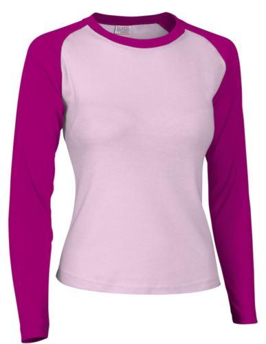 Tshirt da lavoro donna manica lunga bicolore