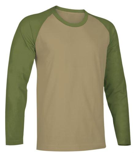 Tshirt da lavoro manica lunga bicolore